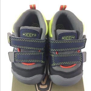 Keen 5 Toddler Baby Boy Blue Gray Velcro Shoes
